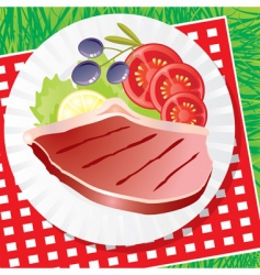 picnic food vector image