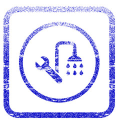 Plumbing framed textured icon vector