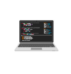 Programming and coding website development vector