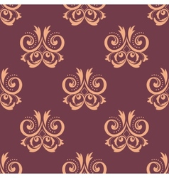Purple and pink seamless floral pattern vector image