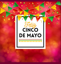 red cinco de mayo poster image vector image