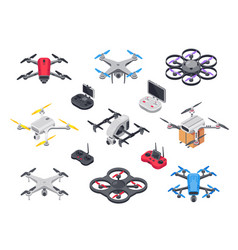 Remote control flying copter with camera radio vector
