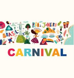 rio de janeiro brazil carnival party vector image
