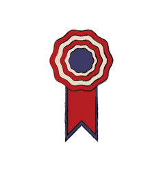 rosette with flag american color symbol vector image