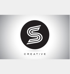 s letter monogram logo design modern s icon with vector image
