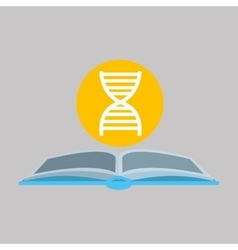 sciencie glove and dna structure icon vector image