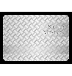 Silver member card with diagonal crossing bar vector