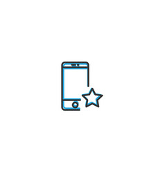 smart phone icon design interaction icon line vector image