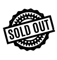 Sold out rubber stamp vector
