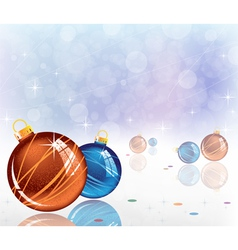sparkling Christmas decorations vector image