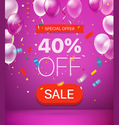 Special offer concept 40 percent off vector