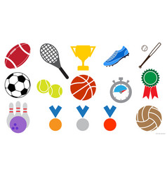 sport icon sign symbol set vector image