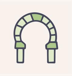Stone arch color doodle simple icon vector