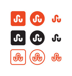 stumbleupon social media icons vector image