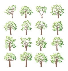 Stylized tree collection vector