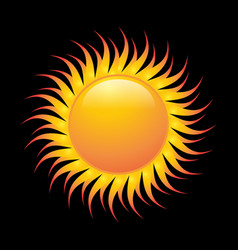 sun orange color vector image