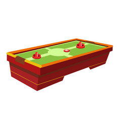 Table hockey with round paddle and thin washer vector