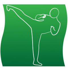 Taekwondo kick line icon a sports set vector