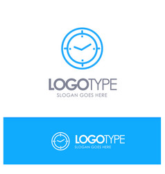 Time timer compass machine blue logo line style vector