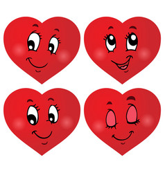 Valentine hearts thematic set 3 vector