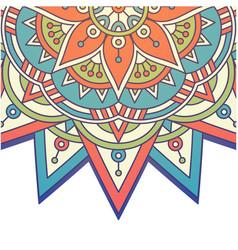 Vintage mandala rowel design image vector