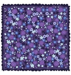 Violet blue flowers background vector