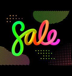volume gradient colored figures sale vector image