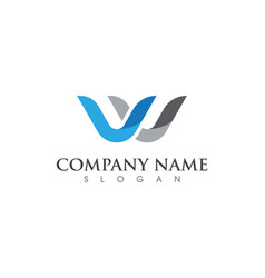 W letter logo business template vector