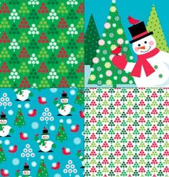 Winter patterns vector