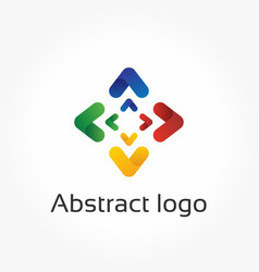 abstract arrows direction logo template vector image