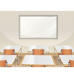 An empty classroom vector image