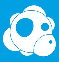 atom icon white vector image