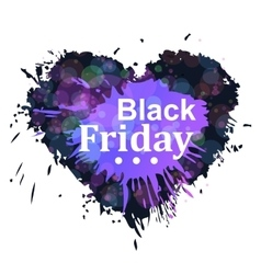 Black friday heart vector image