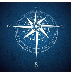 Compass road sign vector