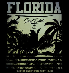 On the theme of surf and surf club florida grunge vector