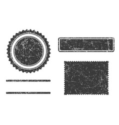 set of grunge stamps template different forms vector image