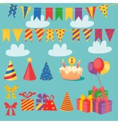 Birthday Set vector image