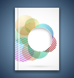 Bright colorful circle notebook cover template vector image vector image