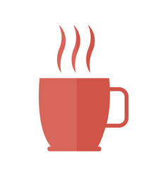 coffee cup beverage aroma fresh hot icon vector image vector image
