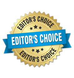editors choice round isolated gold badge vector image vector image