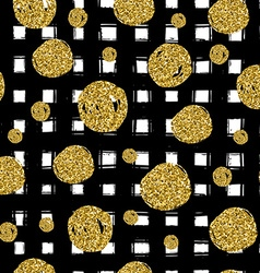 Gold circles on black hand drawn line Trendy vector image vector image