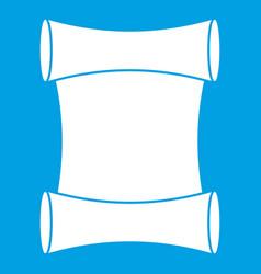 Scroll icon white vector