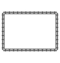simple black ornamental decorative frame vector image vector image