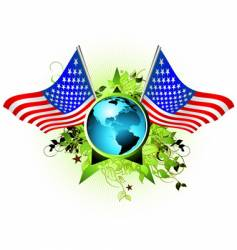 world USA vector image