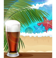Beach vacation background vector image vector image