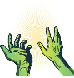 hands of fear illustration vector image vector image