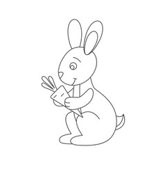 Hare for coloring book vector
