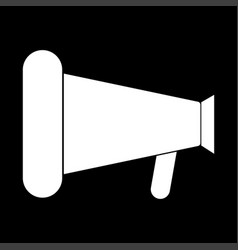 loud speaker or megaphone the white color icon vector image