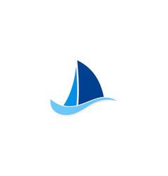 sailing boat holiday logo vector image