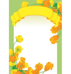 yellow scroll frame vector image